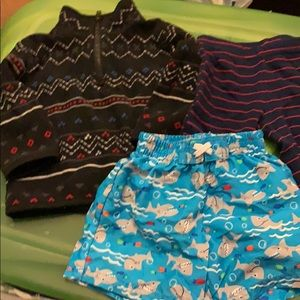 Other - Fleece pull over sweater long pants and swim short